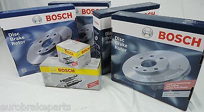 GENUINE Bosch brake pads & disc brake Rotors FRONT REAR VT VX VY VZ COMMODORE