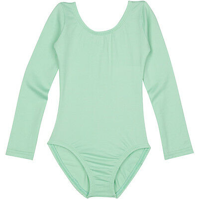 MINT GREEN Long Sleeve Leotard for Toddler and Girls