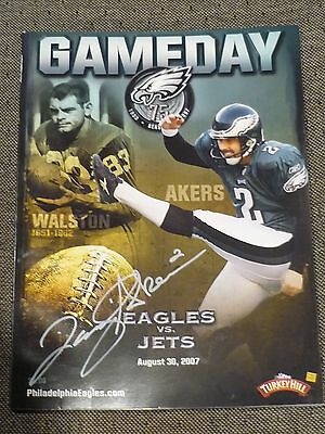 August 30 2007 Eagles Gameday Program David Akers Autograph GREAT SHAPE!