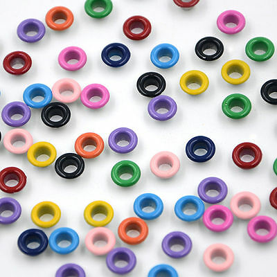 Eyelets Buckle  LeatherCraft Apparel Metallic Scrapbook 11 colors 4mm 4.5mm 5mm