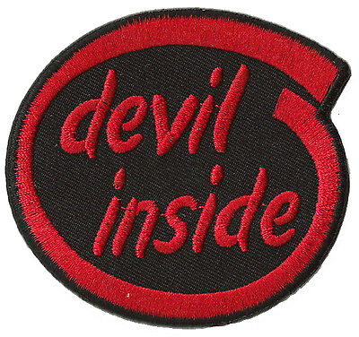 Ecusson badge patche DEVIL INSIDE thermocollant patch déco