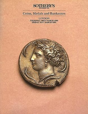 SOTHEBY'S Coins, Medals and Banknotes Catalogue London 30th & 31st March 1995