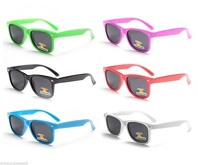 Childrens Kids Boys Girls Polarised Wayfarer Sunglasses Full Uv400 Protection