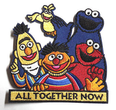 "Sesame Street All Together Now  4"" Embroidered Patch- FREE S&H (EBPA-SS-01)"