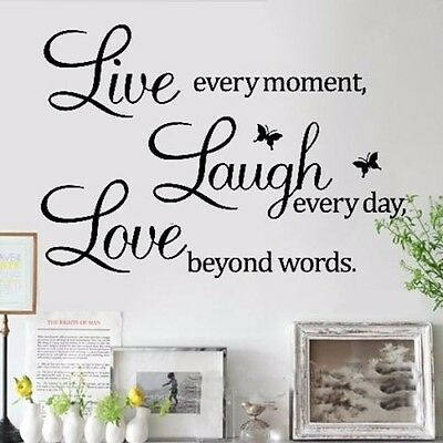 Live Laugh Love Mural Wall Quote Art Words Decals Sticker Room Decor Vinyl