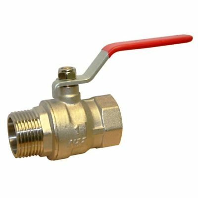 "BRASS LEVER BALL VALVE BSP  MALE x FEMALE ENDS -  1/4"" To 2"""