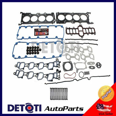 Fits:2000-2004 Ford Expedition 5.4L V8 TRITON MLS Head Gasket Set & Bolts