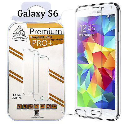 Genuine Gorilla Tempered Glass By GT Film Screen Protector For Samsung Galaxy S6