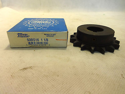 New In Box Martin 50Bs16 1-1/8 Chain Sprocket