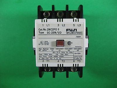 Fuji Electric Magnetic Contactor -- 2NC2FO/ SC-2SN/UD -- Used