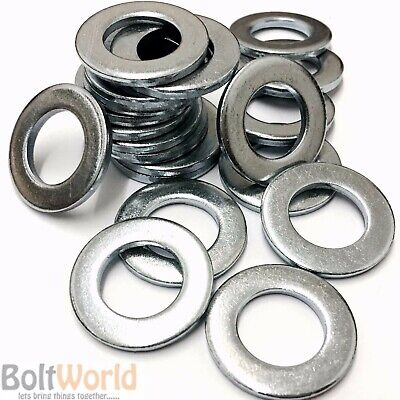 M16 / 16mm METRIC WASHERS STANDARD FORM A THICK BRIGHT ZINC PLATED BZP DIN 125A