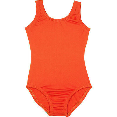 ORANGE Tank Leotard for Ballet and Gymnastics