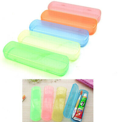 1Pc Portable Candy Colors Travel Toothbrush Holder Toothpaste Protect Box Case