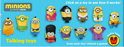 Minions 2015 McDonalds happy meal toys
