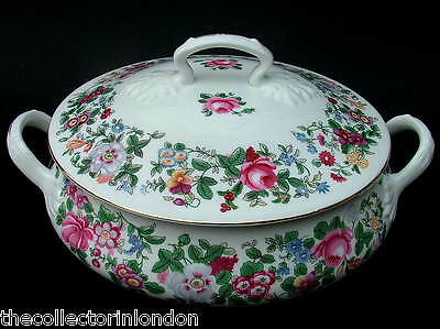Vintage Crown Staffordshire Thousand Flowers Vegetable Tureen & Lid Looks in VGC