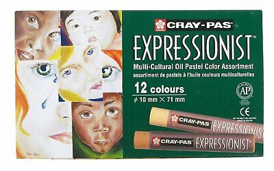 Cray-Pas Expressionist Oil Pastels Multicultural 12 Assorted Skin Tones