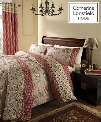 Catherine Lansfield Kashmir 200 Thread Count Cotton Rich Duvet/Quilt Cover Set