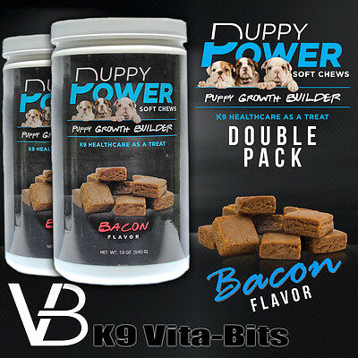 K9 Vita-Puppy Soft Chews Growth Builder Puppy Supplements and Vitamins 2 pack