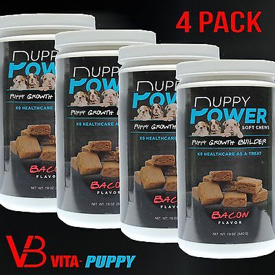 K9 Vita-Puppy Soft Chews Growth Builder Puppy Supplements and Vitamins 4 pack