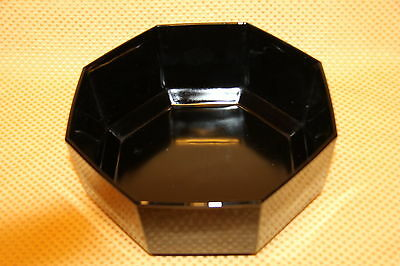 "Vintage Arcoroc OCTIME BLACK Glass Octagon 9"" x 4"" SERVING BOWL Made in France"