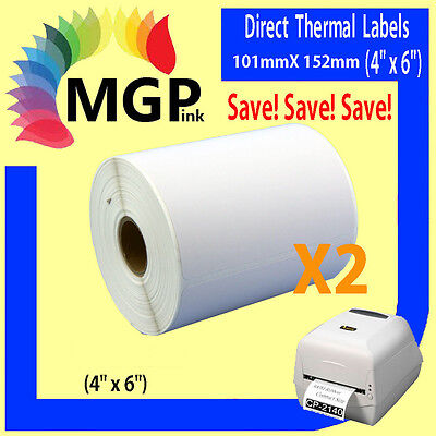 2x Direct Thermal Shipping Labels for Fastway eParcel Startrack 101x152mm 4×6
