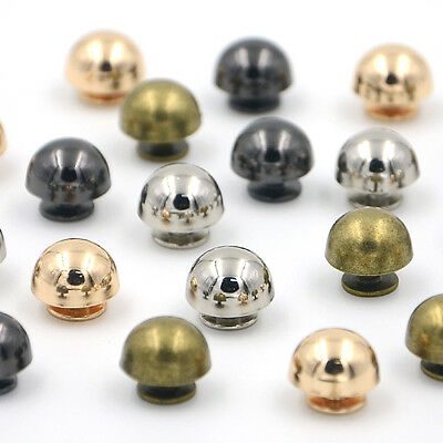 12mm Dome Mushroom Rivet Spike Screw Back Leathercraft Spots Metalic Diy Punk