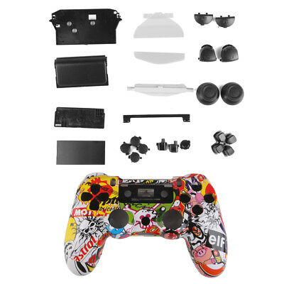 Colorful Skull Controller Shell Housing Case Cover Button Parts for Sony PS4
