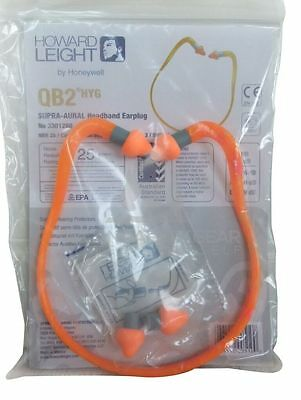 Earplug Foam Banded Headband Howard Leight QB2HYG NRR25 Safety Workplace Protect