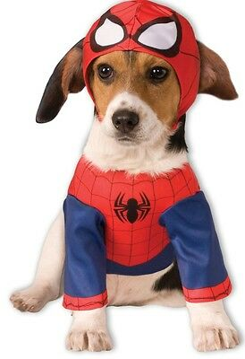 Official Pet Dog Cat Spiderman Super Hero Halloween Fancy Dress Costume Outfit