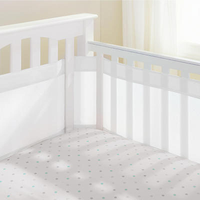 Breathable Baby AirflowBaby 4 Sided Mesh Airflow Cot Liner - White