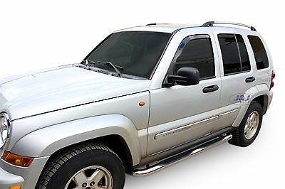 SB319 JEEP CHEROKEE 2001-2006  Luxury Chrome Side Steps Bars Running Boards