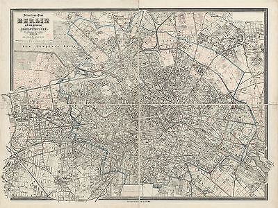 Map Antique 1905 Sineck Berlin Precincts Old Large Replica Poster Print Pam0424