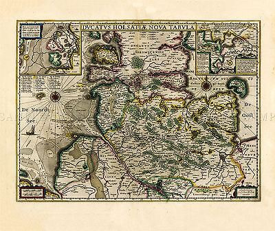 MAP ANTIQUE BLAEU THEATRE DU MONDE FRIESLAND FRISIA REPLICA POSTER PRINT PAM0648