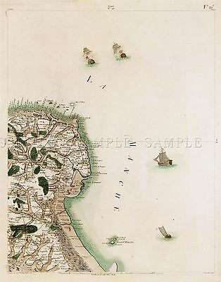 MAP CASSINI FRANCE 18TH CENTURY BAVAY CAMBRAY LARGE REPLICA POSTER PRINT PAM0753