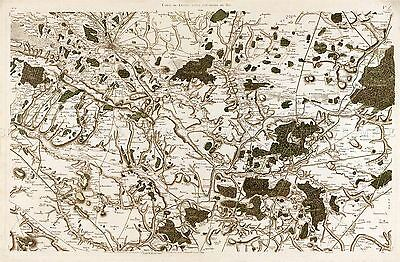 MAP ANTIQUE CASSINI FRANCE 18TH CENTURY MOULINS REPLICA POSTER PRINT PAM0795