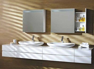 Laufen mirrors Alessi One mirror with closet, drawers and lighting 4.4823.5