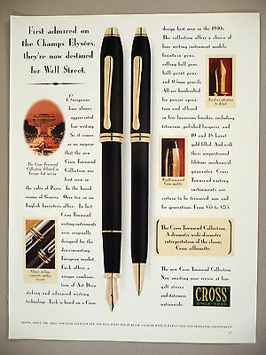 Cross Pen Townsend Collection PRINT AD - 1994
