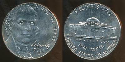 United States, 2011-D 5 Cents, Jefferson Nickel - Uncirculated