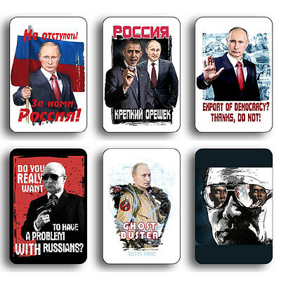 "PUTIN RUSSIAN PRESIDENT RUSSIA FRIDGE MAGNET SOUVENIR 3.74""x 5.57"" 1 of 33 photo"
