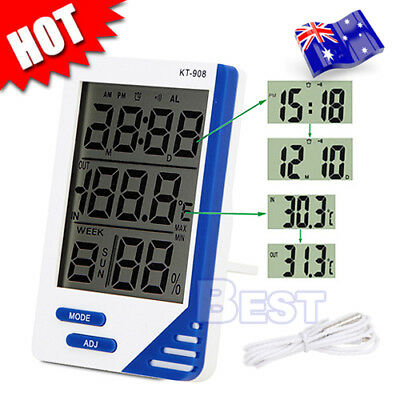 IndIndoor Outdoor Office Home LCD Digital Temperature Humidity Meter Thermometer