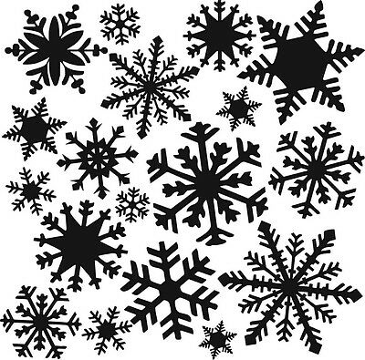 THE CRAFTERS WORKSHOP 6 x 6 Template MINI FLURRIES TCW164s