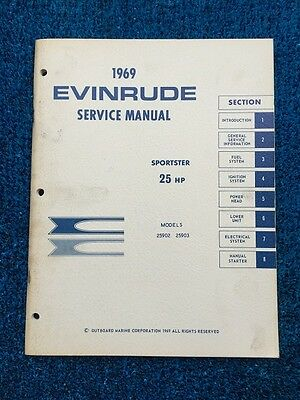 OEM 1969 Evinrude-Johnson 18hp Outboard Master Service Manual Just $16.99
