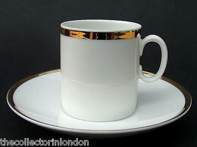 Thomas Medallion Medaillon 701 Wide 4mm Gold Band Sm Coffee Cups & Saucers VGC