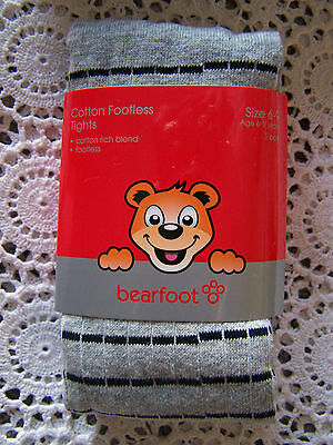 BNIP...*Bearfoot* Multi-Coloured Footless Tights..Size 6-9/Age 6-9 Years....