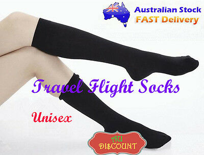 Compression Socks Travel Flight Stocking DVT Relief Aching Varicose Feet Veins
