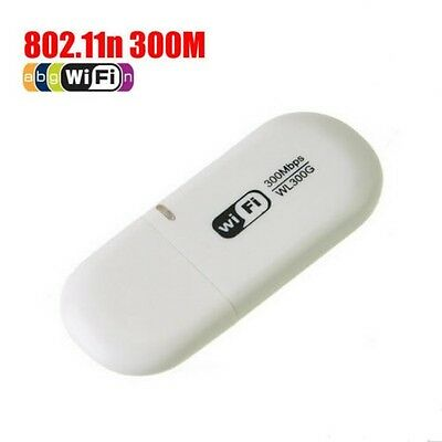 USB 802.11n 300Mbps WiFi N Wireless Adapter Dongle For PC Media Player RTL8191SU