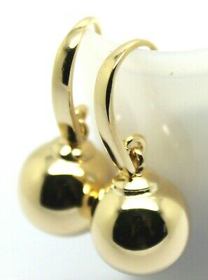 KAEDESIGNS, 9ct Yellow or White or Rose Gold 12mm HOOK EURO BALL DROP EARRINGS