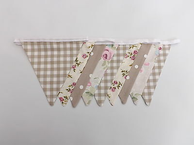 bunting hire -  luxury double-sided vintage shabby chic floral choice of colours