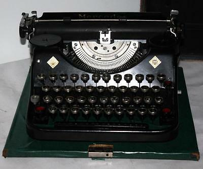 1933 Vintage German MERCEDES 'PRIMA' Portable Typewriter - Good Working [PL1218]