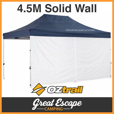 1 x OZtrail Gazebo Solid Wall 4.5m Centre Zip